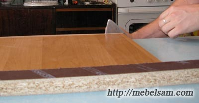 Кромка мебельная, процес кромления