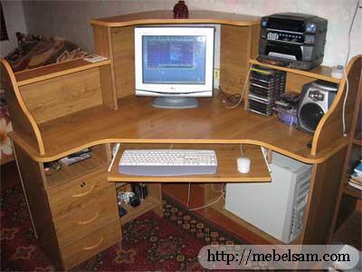 Стол компьютерный своими руками чертежи
